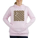 Humu Pattern Women's Hooded Sweatshirt