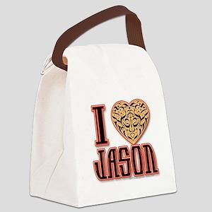 I Love Jason Canvas Lunch Bag