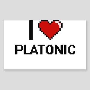 I Love Platonic Digital Design Sticker