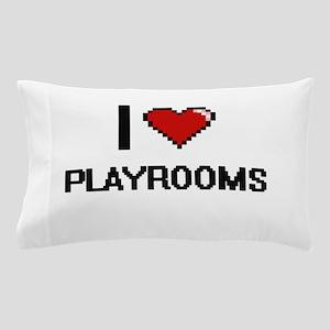 I Love Playrooms Digital Design Pillow Case