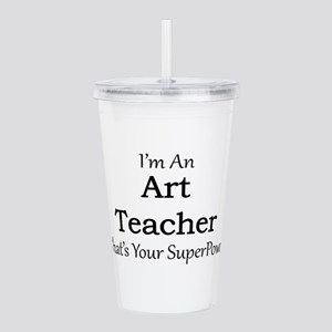 Art Teacher Acrylic Double-wall Tumbler