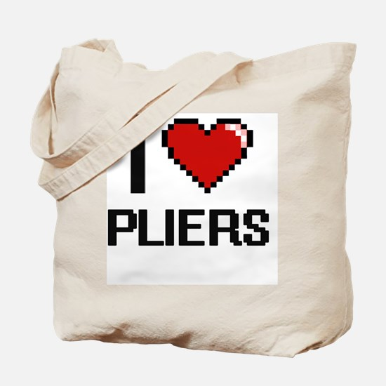 I Love Pliers Digital Design Tote Bag