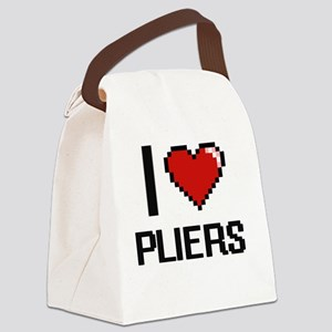 I Love Pliers Digital Design Canvas Lunch Bag