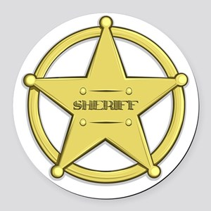 Sheriff's Badge Round Car Magnet