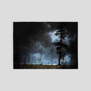 Dark Forest Rain 5'x7'Area Rug
