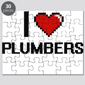 I Love Plumbers Digital Design Puzzle