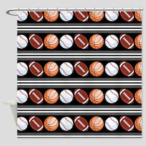Sports Fan Shower Curtain
