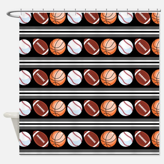 Sports Fan Shower Curtain