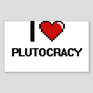 I Love Plutocracy Digital Design Sticker