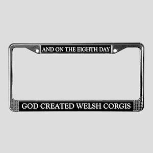 8TH DAY Corgi License Plate Frame
