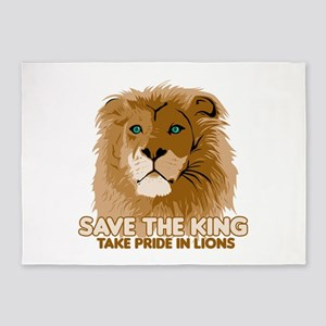 Lion Save the King 5'x7'Area Rug