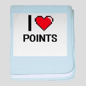 I Love Points Digital Design baby blanket
