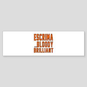 Escrima Bloody Brilliant Designs Sticker (Bumper)