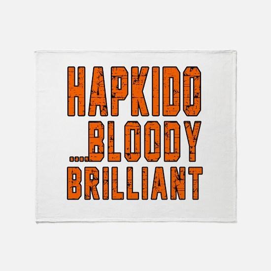 Hapkido Bloody Brilliant Designs Throw Blanket