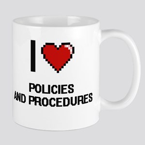 I Love Policies And Procedures Digital Mugs