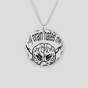 My Brain Hates Me Logo Necklace