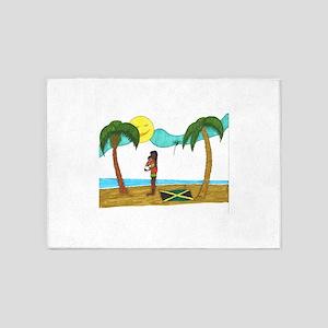 Jamaica Love 5'x7'Area Rug