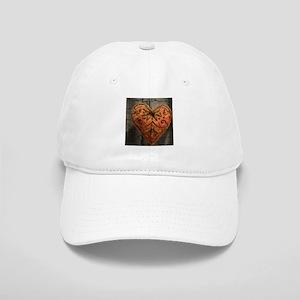vintage scandinavian embroidery heart Cap