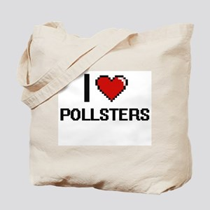 I Love Pollsters Digital Design Tote Bag