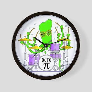 Drumming Octopus Wall Clock
