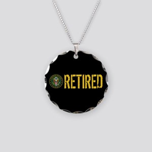 U.S. Army: Retired Necklace Circle Charm