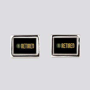 U.S. Army: Retired Rectangular Cufflinks