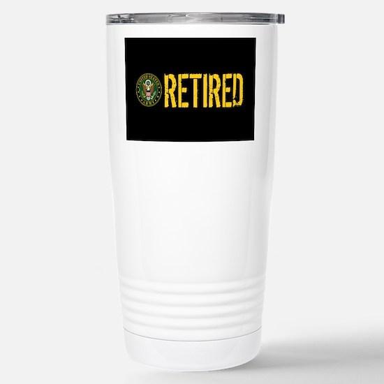 U.S. Army: Retired Stainless Steel Travel Mug