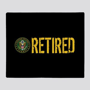 U.S. Army: Retired Throw Blanket