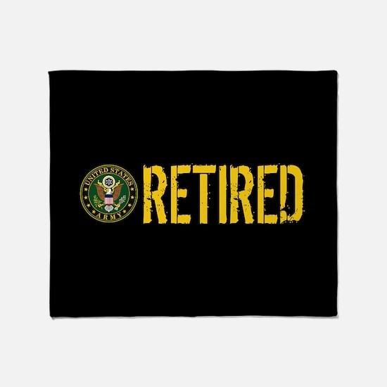 U.S. Army: Retired Throw Blanket