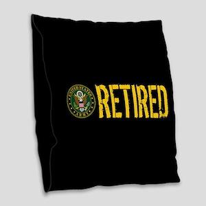 U.S. Army: Retired Burlap Throw Pillow