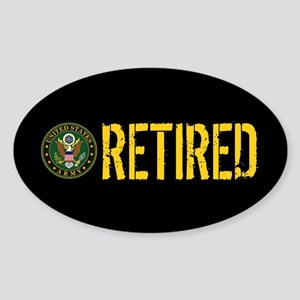 U.S. Army: Retired Sticker (Oval)