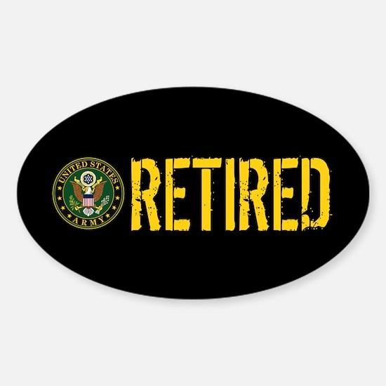 U.S. Army: Retired Sticker (Oval)