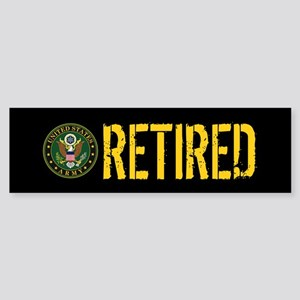 U.S. Army: Retired Sticker (Bumper)