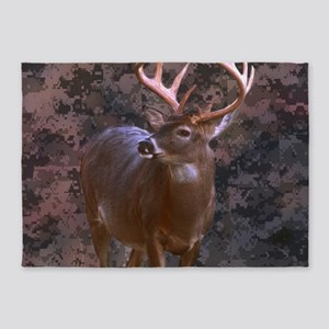 camouflage western country deer 5'x7'Area Rug