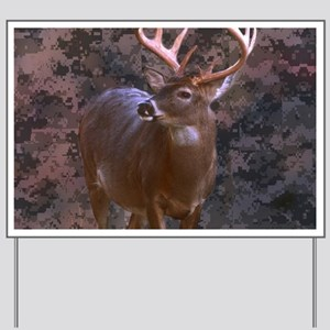 camouflage western country deer Yard Sign