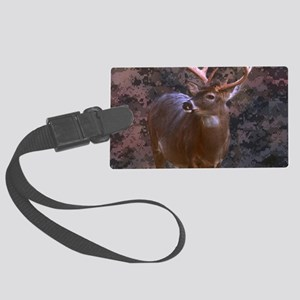 camouflage western country deer Large Luggage Tag