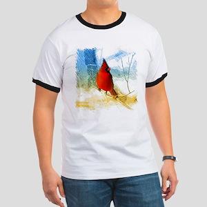 watercolor winter red cardinal T-Shirt