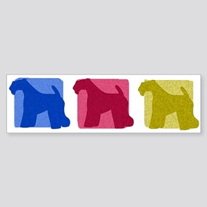 Color Row Kerry Blue Terrier Bumper Sticker