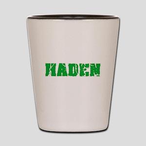 Haden Name Weathered Green Design Shot Glass