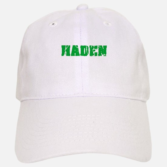 Haden Name Weathered Green Design Baseball Baseball Cap