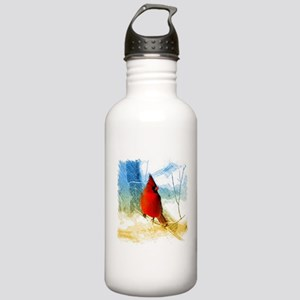 watercolor winter red Stainless Water Bottle 1.0L