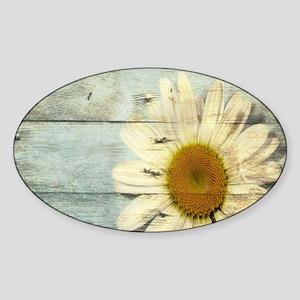 shabby chic country daisy Sticker