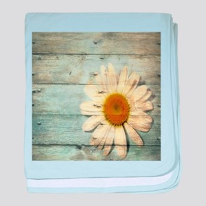 shabby chic country daisy baby blanket