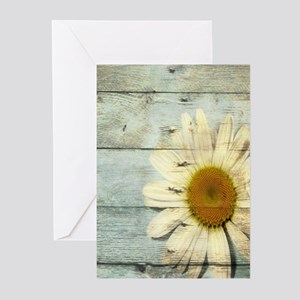 shabby chic country daisy Greeting Cards