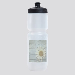 shabby chic country daisy Sports Bottle