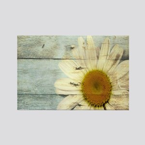 shabby chic country daisy Magnets