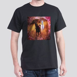 pink stars country horses T-Shirt