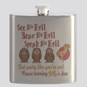 105th Birthday Party Gift Flask