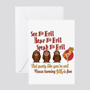 105th Birthday Party Gift Greeting Cards