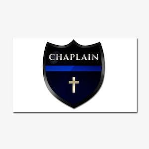 Police Chaplain Shield Car Magnet 20 X 12